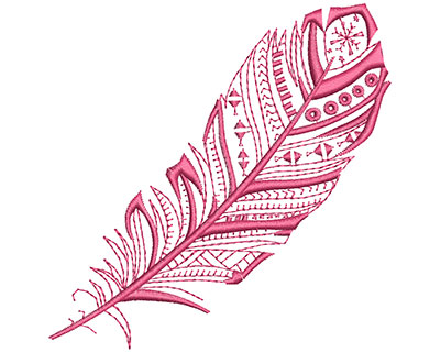 Embroidery Design: Fancy Feather C Large 4.04w X 4.09h