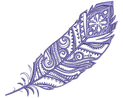 Embroidery Design: Fancy Feather D Large 5.46w X 4.70h