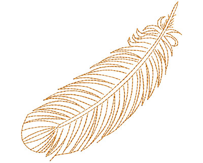 Embroidery Design: Fancy Feather E Large 4.75w X 4.73h