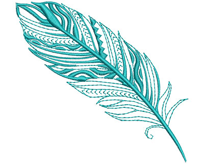 Embroidery Design: Fancy Feather F Large 4.15w X 3.86h