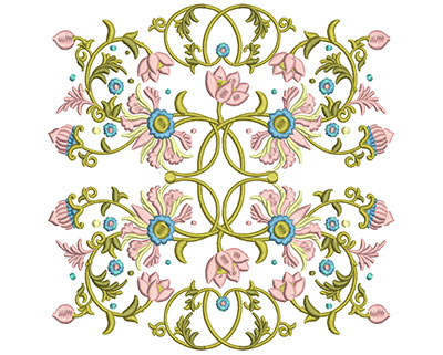 Embroidery Design: Harmony Floral 1 7.85w X 7.85h