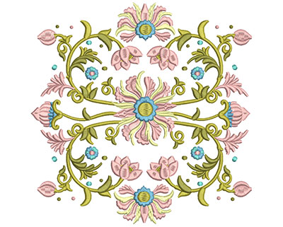 Embroidery Design: Harmony Floral 2 7.84w X 7.87h