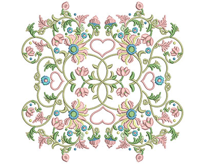 Embroidery Design: Harmony Floral 3 7.86w X 7.83h
