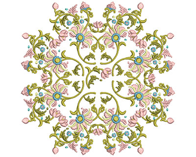 Embroidery Design: Harmony Floral 4 7.86w X 7.86h