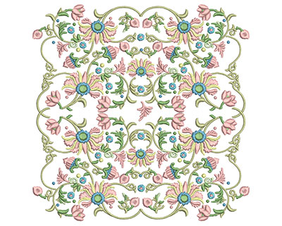 Embroidery Design: Harmony Floral 5 7.85w X 7.86h