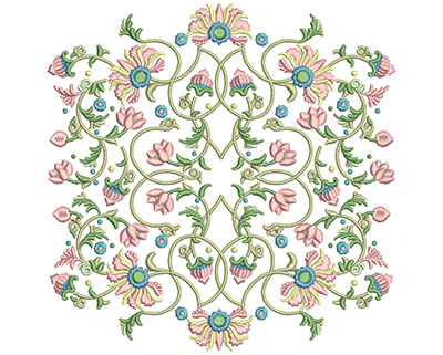 Embroidery Design: Harmony Floral 6 7.86w X 7.86h