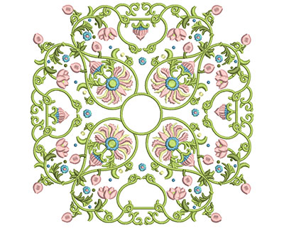 Embroidery Design: Harmony Floral 7 7.87w X 7.87h
