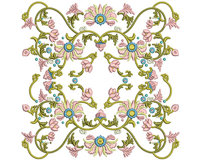 Embroidery Design: Harmony Floral 8 7.86w X 7.86h