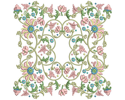 Embroidery Design: Harmony Floral 9 7.86w X 7.84h