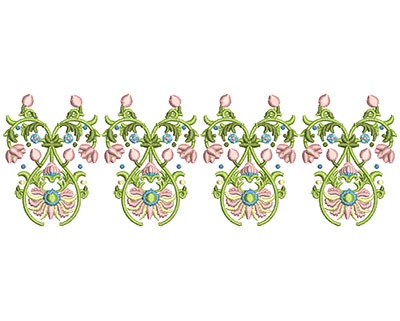 Embroidery Design: Harmony Floral 10 7.84w X 2.64h