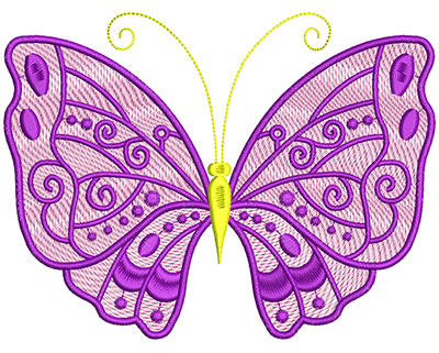 Embroidery Design: Mylar Magic Butterfly 1 Large 6.50w X 4.91h