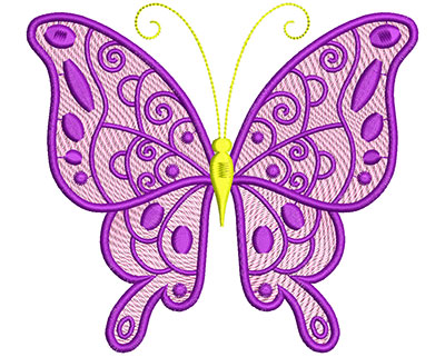 Embroidery Design: Mylar Magic Butterfly 2 Large 5.56w X 4.96h