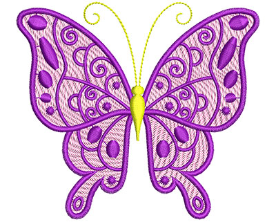 Embroidery Design: Mylar Magic Butterfly 2 Small 3.96w X 3.54h