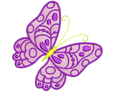 Embroidery Design: Mylar Magic Butterfly 4 Large 4.96w X 4.97h