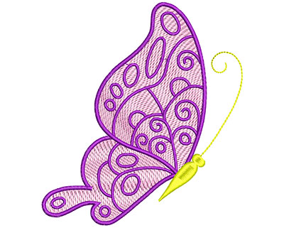 Embroidery Design: Mylar Magic Butterfly 5 Large 4.81w X 5.36h