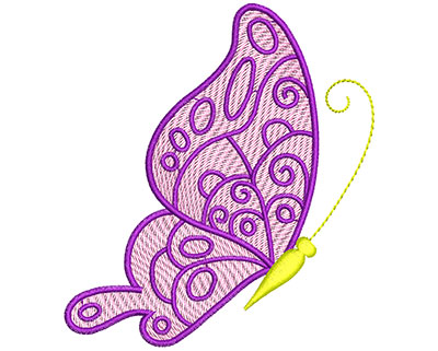 Embroidery Design: Mylar Magic Butterfly 5 Small 3.45w X 3.84h
