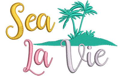 Embroidery Design: Sea La Vie 5.44w X 3.71h