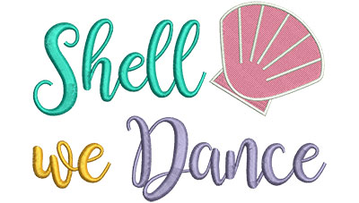 Embroidery Design: Shell We Dance 5.92w X 4.10h
