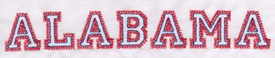 "Embroidery Design: Alabama Name1.19"" x 7.96"""