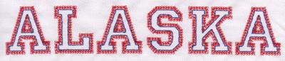 "Embroidery Design: Alaska Name1.44"" x 8.02"""