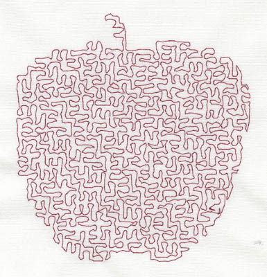 Embroidery Design: Stipple Apple Medium  4.20w X 4.54h