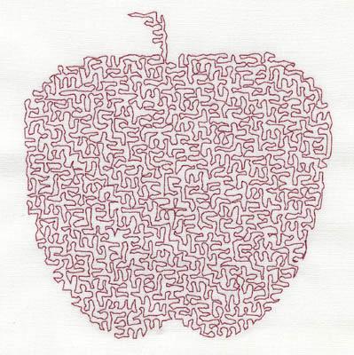 Embroidery Design: Stipple Apple High 4.22w X 4.57h