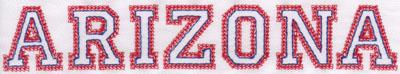 "Embroidery Design: Arizona Name1.33"" x 7.90"""