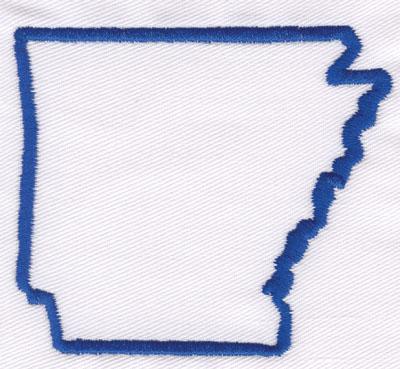 "Embroidery Design: Arkansas Outline2.83"" x 3.23"""