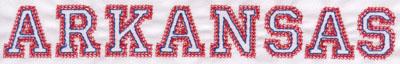 """Embroidery Design: Arkansas Name1.11"""" x 8.01"""""""