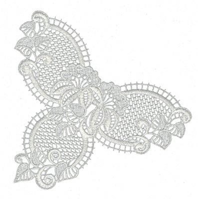 "Embroidery Design: Lace Jumbo 17.02"" x 7.07"""
