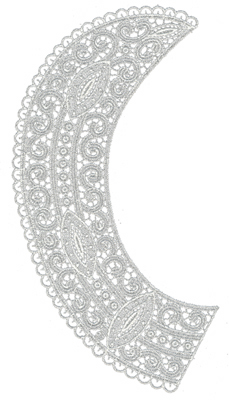 """Embroidery Design: Lace Large 15.55"""" x 10.24"""""""