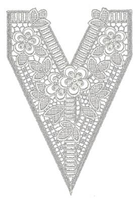 "Embroidery Design: Lace Medium 16"" x 8.99"""