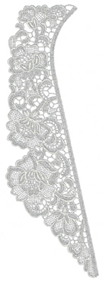 "Embroidery Design: Lace Jumbo 34.07"" x 11.80"""