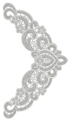 "Embroidery Design: Lace Medium 35.66"" x 10.16"""