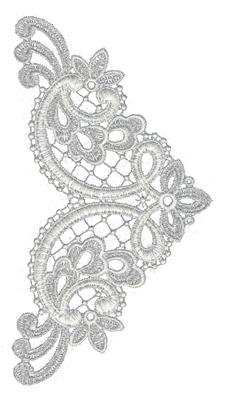 "Embroidery Design: Lace Medium 44.15"" x 10.16"""