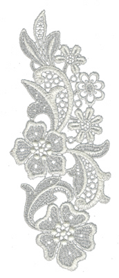 "Embroidery Design: Lace Large 33.07"" x 8"""