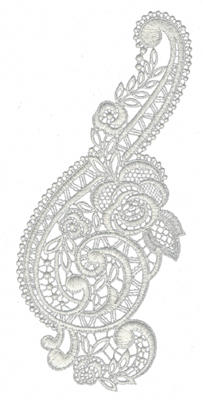 """Embroidery Design: Lace Large 44.4"""" x 9.59"""""""