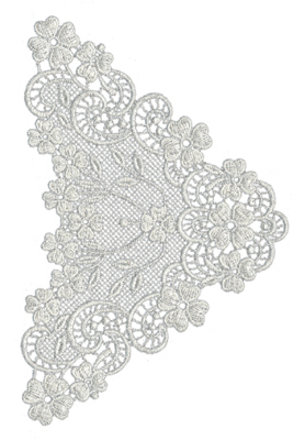 """Embroidery Design: Lace Large 54.5"""" x 6.78"""""""