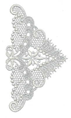 "Embroidery Design: Lace Medium 53.25"" x 5.63"""