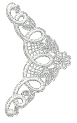"Embroidery Design: Lace Medium  62.93"" x 5.12"""