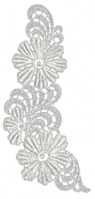 """Embroidery Design: Lace Large 63.07"""" x 6.65"""""""