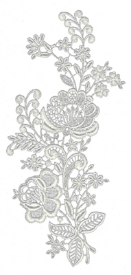 """Embroidery Design: Lace Large 74.3"""" x 9.64"""""""