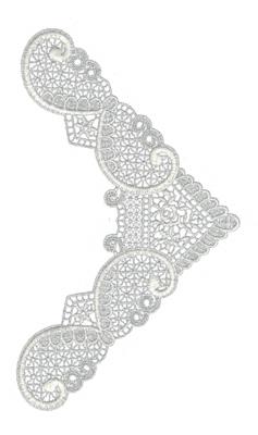 "Embroidery Design: Lace Medium 75.39"" x 9.36"""