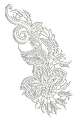 """Embroidery Design: Lace Large 84.46"""" x 6.83"""""""
