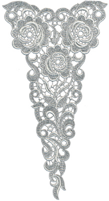 "Embroidery Design: Lace Jumbo 66.21"" x 11.69"""