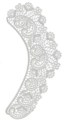 "Embroidery Design: Lace Jumbo 75.68"" x 11.8"""