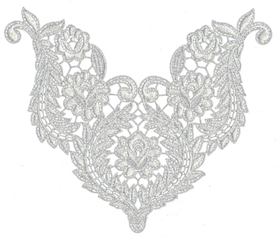 "Embroidery Design: Lace Medium 98.26"" x 6.9"""