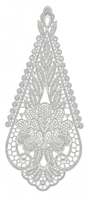 """Embroidery Design: Lace Large 93.51"""" x 8.33"""""""