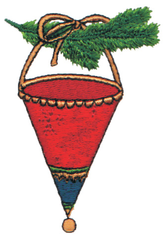 """Embroidery Design: Cone Shaped Hanging Ornaments2.12"""" x 3.06"""""""