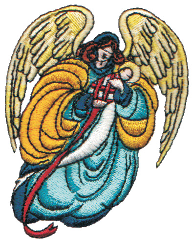 "Embroidery Design: Angel Mother and Baby2.55"" x 3.22"""